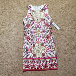 NWT London Times Gorgeous Printed Sheath Dress